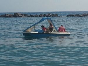 Our peddle out boat!