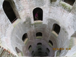 looking down the well