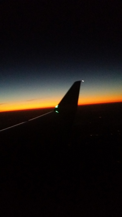 Sunrise on the plane to Dulles