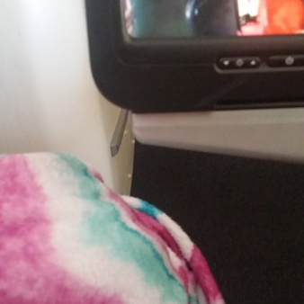 cozy on the airplane