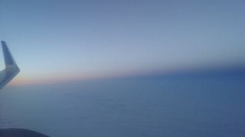 Sunset on the plane to London
