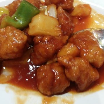 Sweet and Sour Chicken in Chinatown